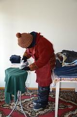Slave maid on work (Warm Clothes Fetish) Tags: slave maid hijab niqab girl sweat fleece fur hat boots apron winter hot warm coat