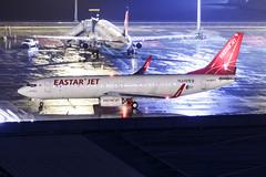EASTER JET B737-800(WL) HL8053 001 (A.S. Kevin N.V.M.M. Chung) Tags: aviation aircraft aeroplane airport airlines apron plane spotting macauinternationalairport mfm night rainy raining mirror beacon boeing b737 b737800wl