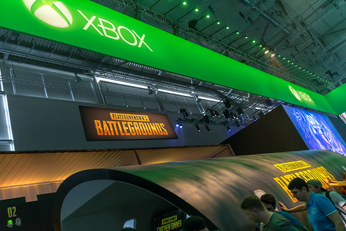 PlayerUnknown's Battlegrounds (PUBG) am Messestand von Xbox One auf der Gamescom
