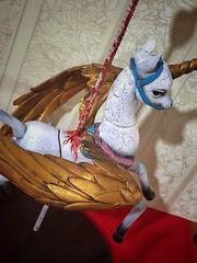 Blücher (Sadomina) Tags: doll bjd abjd balljointeddoll sadomina dollchateau lillian horse pegasus unicorn carouselhorse creepy art artdoll darkart macabre toy dollcollector