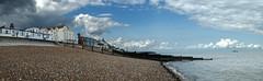 Herne Bay beach panorama (AnotherNEXuser) Tags: beach hernebay shingle sea seaside seashore pier