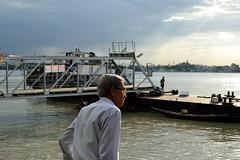 The jettyside view (sanat_das) Tags: kolkata baghbazarghat thejettysideview river hoogly man portrait 28300mm d800 afternoonlight