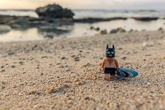 Batman at the beach (Ballou34) Tags: 2017 7dmark2 7dmarkii 7d2 7dii afol ballou34 canon canon7dmarkii canon7dii eos eos7dmarkii eos7d2 eos7dii flickr lego legographer legography minifigures photography stuckinplastic toy toyphotography toys pitonsaintleu saintpaul réunion re stuck in plastic batman dc dccomics comics beach holidays surf sand water sea