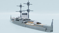 Emperor ironclad (Sunder_59) Tags: lego moc render blender3d mecabricks ship navy military micro microscale