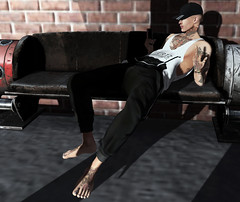 Fuck off, I'm not in the mood. :P (MATTY // *OMG*) Tags: sl secondlife men mens blogger blog lotd look outfit new mesh 3d world avi avatar tattoos gabriel fli gb signature event exclusive clothing style fashion male cool dope fresh swag hipster tank cap tats tattoo ink art photo photography