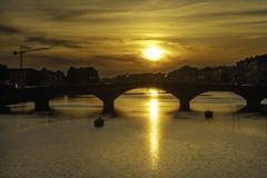 (@Parallaxus) Tags: sony zeiss batis batis1885 italy florence arno river sunset bridge europe firenze