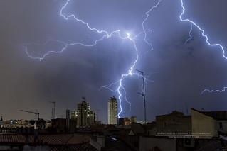 Tormenta en El Centro de Madrid