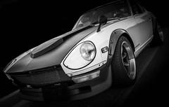 240Z (Dave GRR) Tags: datsun nissan fairlady 240z ea carsncoffee toronto auto show 2018 monochrome mono bw olympus