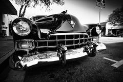 1948 Cadillac (Photos By Clark) Tags: subjects california vehicles location canon1740 canon5div northamerica unitedstates locale places where escondido us 1948 nik lightroom silverefx convert bw blackandwhite car restored chrome v8 black thesandiegoist