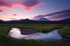 Curvy Sunset (Andrew Kumler) Tags: mountain sunset oregon longexposure landscape scenic cascades clouds