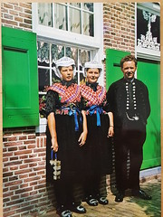 Netherlands Staphorst Costumes for church  visit (DymphieH) Tags: postcards costumes netherlands offer2018