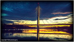 Golden Spire (c) (Tontoe1963) Tags: robscenicimagery sunderland bridge sunset spire