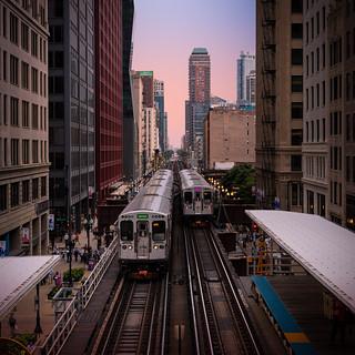 Above the El - Chicago