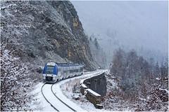Les derniers instants d'une ligne (Bapt' G.) Tags: bgc b82500 région bourgogne franchecomté france rhône st claude bourg bresse ter sncf train agc neige bienne montagne