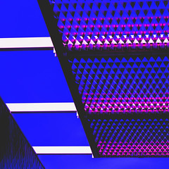 Synthwave ! (philippe baumgart) Tags: synthwave outrun vaporwave alsace elsass sélestat architecture minimalism abstract blue sky