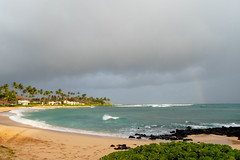 Sun, beach, rainbow (xythian) Tags: hi kauai