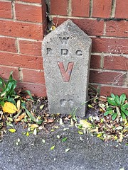 Marker stone, Earley (stavioni) Tags: rdc reading earley concrete post marker