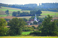 summer moods (JoannaRB2009) Tags: lowersilesia dolnyśląsk polska poland church landscape view nature green summer fields trees