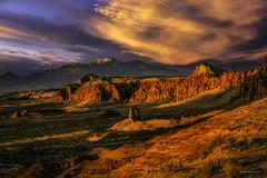 A New Day - Goblin Valley (McKendrickPhotography.com) Tags: goblinvalleystatepark utah emerycounty castlecountry sunrise clouds desert mountains