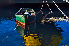 green boat (fata morgana) (mare_maris (very slow)) Tags: reflections green blue yellow orange red sea mare fatamorgana boat nooars tied withoutdestination colorful vividness water paintingwithoutabrush ropes port verde bote sinremos tejer sindestino puerto colorido viveza mar agua reflejos pinturasinpincel cuerdas πράσινη βάρκα xωρίσκουπιά δεμένη χωρίσπροορισμό λιμάνι πολύχρωμη ζωντάνια θαλασσα νερό αντανακλάσεισ ζωγραφιάχωρίσπινέλο σκοινιά vert bateau pasderames tricoter sansdestination coloré vivacité mer eau reflets peinturesanspinceau cordes 绿色,船,编织,海,水,几点思考,无刷画, 绳索, maremaris nikon photography photographer greece eλλάδα mediterranean europe marenostrum