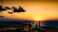 family.sunset (K.H.Reichert [ not explored ]) Tags: lighthouse twighlight sunset malta sea sonnenuntergang felsen sky meer family coast gozo clouds