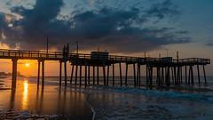 Sunrise at Margate City (PMillera4) Tags: sunrise dawn margate margatecity newjersey jerseyshore beach sun water ocean fishingpier