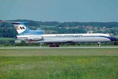 MALEV Hungarian Airlines TU-154 HA-LCE (postcard) (KristofCs) Tags: halce malev airlines hungarian zürich airport ty154 tu154 tupolev postcard képeslap magyar tupoljev marmet 1985