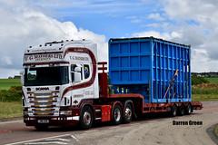 V.G. MATHERS LTD SCANIA TOPLINE 164L 480 V8 FOUR SERIES M16 VGM (Darren (Denzil) Green) Tags: vgmatherstransport vgmathersltdaberdeen invergordon nigg europe uk m16vgm 164l 164l480v8 fourseries scania scaniatrucks topline lowloaderhire trailer transport oilandgas aberdeen