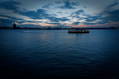 Mersey during the blue hour (johnsti777) Tags: mersey bluehour