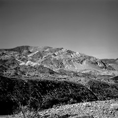 Exposed (Scott Holcomb) Tags: fathercrowleyvistapoint deathvalleynationalpark california kиeb60 mcboлha32880mmlens koway2ø67filter ilforddelta100profilm 120film 6x6 mediumformat epsonperfectionv600 photoshopdigitalization