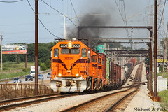 CSS 2005 @ East Chicago, IN (Michael Polk) Tags: chicago south shore bend railroad emd gp382 freight train parrish gary east indiana interurban