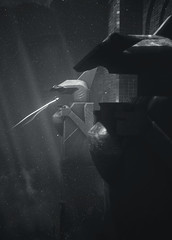 past the centinels (Rakkhive) Tags: abzû abzu underwater diving sea underwaterexploration fish shark dolphin orca whale reshade cinematicdof screenshot screenarchery gamephotography