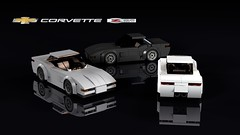 Chevrolet C5 Corvette Z06 (THIRMO) Tags: thirmo vonerics lego moc 6wide cityscale chevrolet c5 corvette z06 ldraw povray minifig