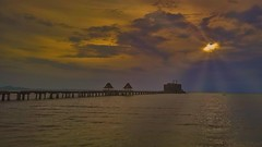 Pier to sunset (alnesleif2) Tags: thailand naklua buddhist temple sunset