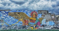 Dream of the angels (maios) Tags: dreamoftheangels dream angels sueñodelosángeles sueño ángeles cloud dramatic mural puebla mexico maios nikond7100 nikon d7100 versus mayoboulevard historiccenter historic center mexicanrevolution mexican revolution battleofpuebla battle goldenthread golden thread city parking wallart wall art
