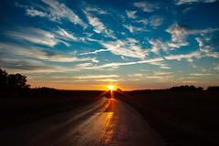 Golden road (christianviktorsson) Tags: canon 50d linköping östergötland sweden road sun reflection solnedgång sunset 18135mm