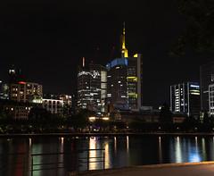 Frankfurt Skyline (nicolas.mollier) Tags: skyline night mainufer cityscape skyscraper main lights nikon d7100 35mm f18 downtown fluss river