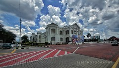 The Town Hall of IPOH. The town that tin, built. (J316) Tags: ipoh malaysia tin j316 sony 10mm tamron a77 perak clouds rain tropical british collonial