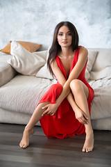 Lady in red (Darienn) Tags: red reddress people like woman beauty studio brunette portrait portraiture canon 5dmark3 5d3