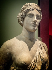 "A constructed portrait bust of a woman known as the ""Oxford Bust"" or ""Sappho"" Head Roman version of a Classical Aphrodite 50 - 200 CE (mharrsch) Tags: sculpture statue portrait bust aphrodite roman 1stcenturyce 2ndcenturyce ancient ashmoleanmuseum oxford england mharrsch myth deity goddess"