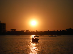 Sunset on the Mekong river, Phnom Penh, Cambodia (NengHetty) Tags: mekongriver phnom penh cambodia sunset river boat