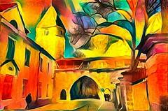 Old Tallinn (Kalev Vask.) Tags: digital kalevvask postprocessed photomanipulation digiart photoart painterly artistic creative estonia manipulated ownphoto phototopainting building topazstudio 2018 mediachance dap lunapic