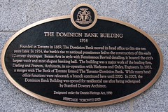 Toronto Ontario - Canada -One King West Hotel and Residence  - AKA - The Dominion Bank Building -  Historic Plaque (Onasill ~ Bill Badzo - 54M View - Thank You) Tags: plaque toronto on ont ontario canada one king street west hotel residence dominion bank building aka beaux arts architecture style renaissance revival elegant onasill heritage historic downtown hall td luxury ceiling attraction landmark