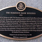 Toronto Ontario - Canada -One King West Hotel and Residence  - AKA - The Dominion Bank Building -  Historic Plaque thumbnail