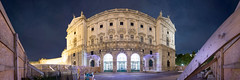 Weltmuseum / #02 (2017) (T I M S T A N I) Tags: panoramaphotography panoramicphotograph pano photo constructionsite lowlight longexposure night outdoor architecture building landmark construction reconstruction cityscape view urban urbandevelopment urbanexploring city citycenter downtown innercity historiccenter historiccitycenter vienna wien 1010 heldenplatz