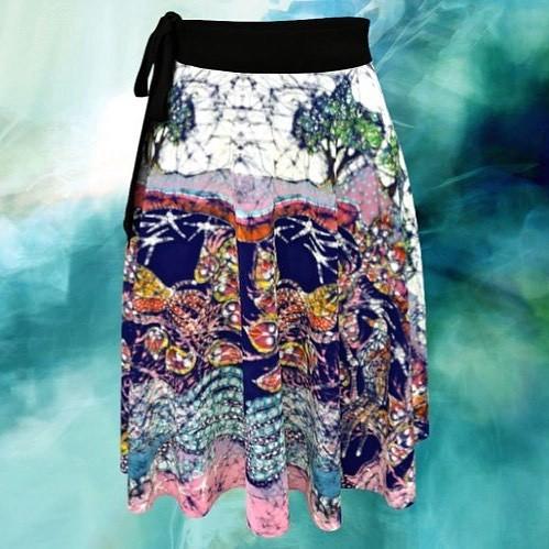 Excited to share the latest addition to my #etsy shop: Nature Batik Wrap Skirt - Magical Birds - Batik Art https://etsy.me/2QuuEB5 #batik skirt #artclothing #wrapskirt #fantasy #birds #amityfarmbatik