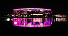 Perth Stadium (Steve Paxton WA) Tags: reflections buildings water nightshots nightphoto lights westernaustralia nightsky
