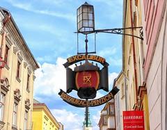 Moravska Trebova Excalibur (wernerfunk) Tags: schild werbung tschechien sign gasthausschild