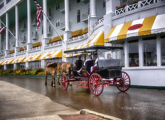 Horse and Buggy at the Grand Hotel - Mackinac Island (kweaver2) Tags: kathyweaver mackinacisland mi lakehuron michigan grandhotel