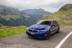 BMW M5 F90 (Nico K. Photography) Tags: bmw m5 f90 blue view mountains luxury supercars photoshooting nicokphotography switzerland klausenpass